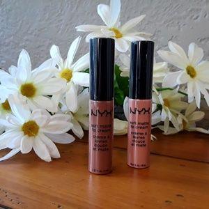 NEW NYX 2 Soft Cream Matte Lip Cream